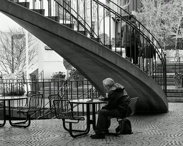 Man Staircase bw2
